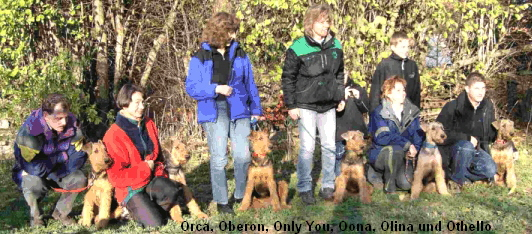 Orca, Oberon, Only You, Oona, Olina und Othello
